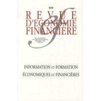 Association D'ECONOMIE Financiere - Revue D'ECONOMIE Financiere N.98/99 ; information et formation économiques et financières