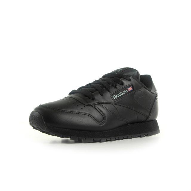 Reebok - Classic leather Noir - pas cher Achat   Vente Baskets femme -  RueDuCommerce bda18dc538ad