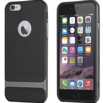 Rock - Coque Royce Series bi-matières pour iPhone 6 Plus 5,5 pouces coloris noir et gris