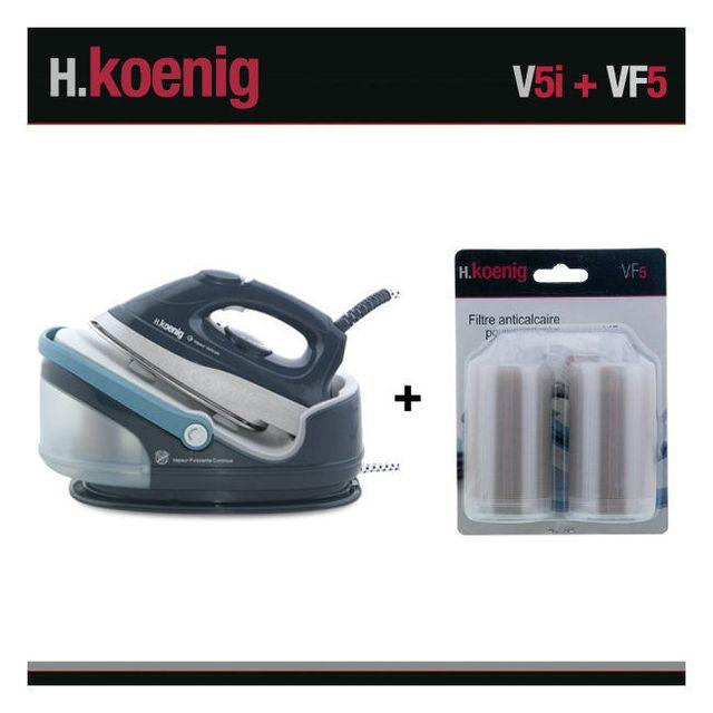 HKOENIG H.Koenig V5I Centrale Vapeur 2400W anthracite + Set de 2 Filtres