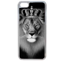 Lapinette - Coque Rigide Originale Lion Roi Noir Blanc Pour Apple Iphone 8