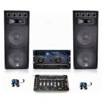 My Deejay - Pack sono complet table de mix, enceintes 2x1000W
