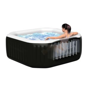 intex spa gonflable purespa octogonal bulles jets 4 places pas cher achat vente spa. Black Bedroom Furniture Sets. Home Design Ideas