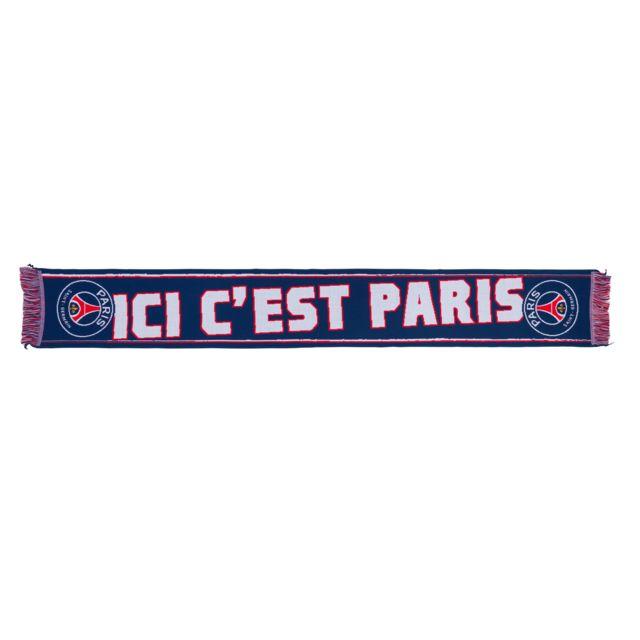 4f9987ac5f96 Licence Officielle - Echarpe Psg  Ici c est Paris  Bleu - pas cher ...