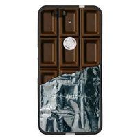 Kabiloo - Coque souple pour Google Nexus 6P avec impression Motifs tablette de chocolat