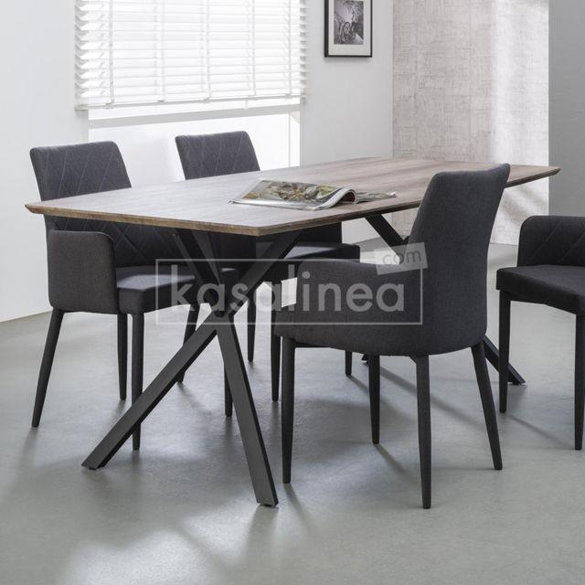 Kasalinea Table à manger couleur bois Tiago - L 160 cm