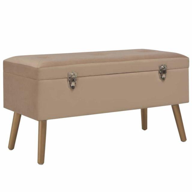 Helloshop26 Banquette pouf tabouret meuble banc avec