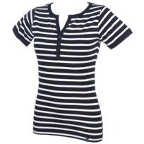Elegance Oceane - Tee shirt manches courtes Balancine marine tee Bleu 36278