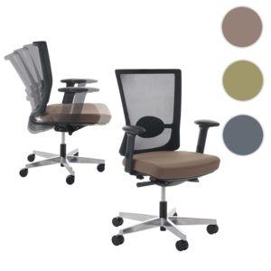 mendler fauteuil de bureau belfast chaise pitovante ergonomique taupe pas cher achat. Black Bedroom Furniture Sets. Home Design Ideas