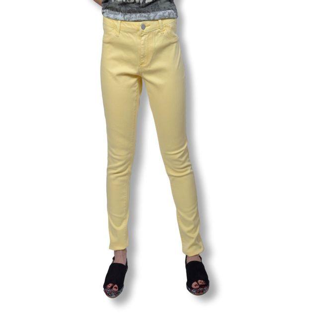 314a66d710652 Byoung - Jean Femme B.YOUNG - Jean femme coupe slim taille haute de couleur