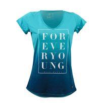 Watts - T-shirt Manches Courtes Femme Paons Acquamarine
