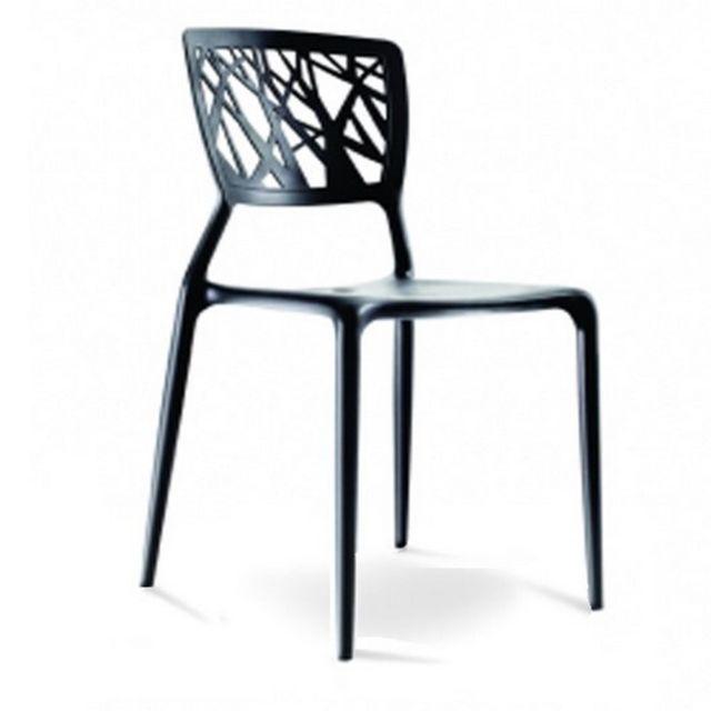 Oneboutic Chaise design blanche Verdi pas cher Achat