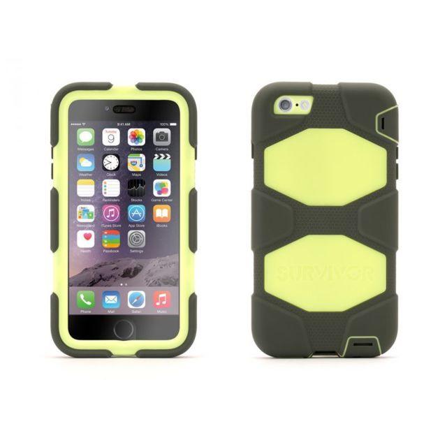 Griffin - Survivor coque All-Terrain citron et gris pour iPhone 6 Plus a74c242b84a6