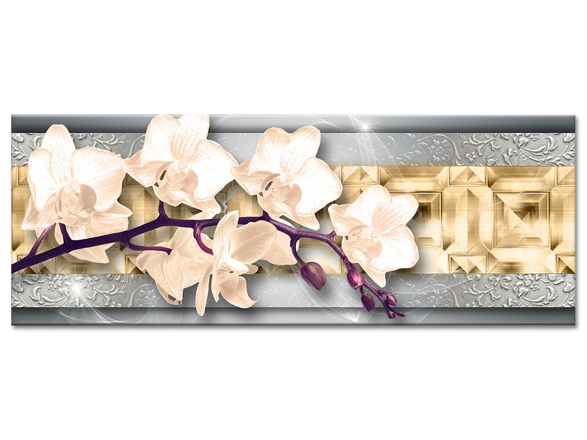 Toile murale décoration orchidées pas chère - Décoration design