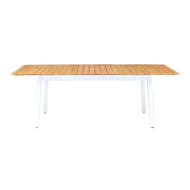 Alinéa - Delphes Table de jardin extensible en eucalyptus massif 6 à ...