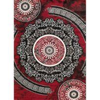 alya tapis tapis de salon moderne spirale new florida gris et rouge - Tapis De Salon Rouge
