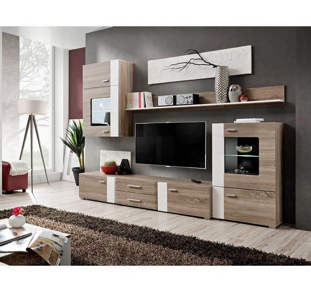 dusine - ensemble tv aleppo fashion 4 meubles scandinave - pas cher