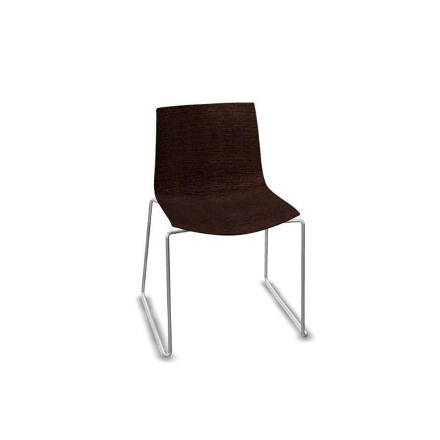 Arper Catifa 46 chaise avec traîneau 0378 - teinte Wengé