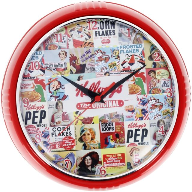 Promobo Horloge Murale Déco Licence Kelloggs Mosaïque Kelloggs