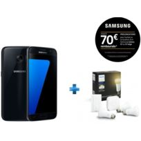 Samsung - Galaxy S7 noir + Pack Philips White Ambiance