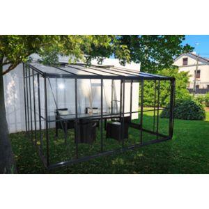 chalet jardin chalet jardin serre d 39 hiver verre 12 m2 grise adossable pas cher achat. Black Bedroom Furniture Sets. Home Design Ideas