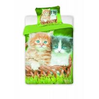 Home - Parure de lit Chat Chaton Cat Green