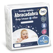 Babysom - Protège Matelas Bébé « 2 en 1 » - 60x120 cm - Drap housse + Alèse Imperméable - Jersey 100% Coton - Souple et Silencieux