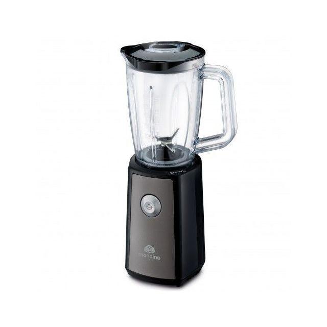 MANDINE Mini Blender - 300 W - 600 Ml - Noir 1 Blender : 600 Ml - 1 gourde : 500 Ml - 1 vitesse.