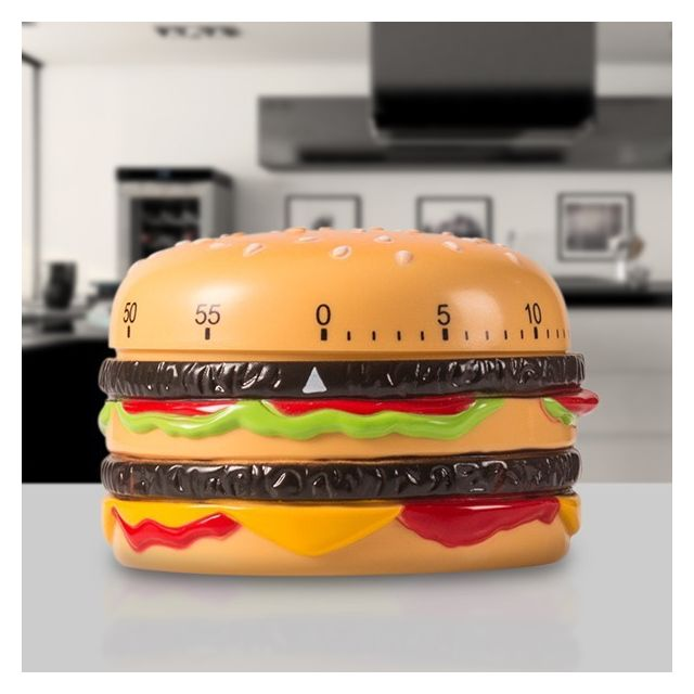 Totalcadeau Minuteur de cuisine en forme d Hamburger - Temps de cuisson