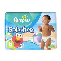 - Maillots de bain 21 Couches Pampers Splashers 17Kg+ Taille 6 plage et piscine
