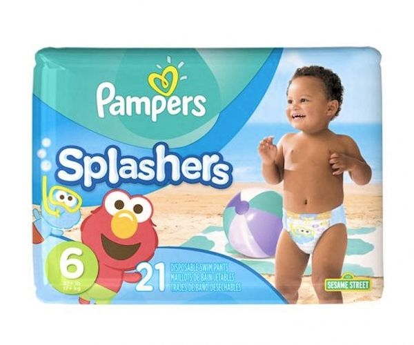 Maillots de bain 21 couches pampers splashers 17kg taille 6 plage et piscine pas cher achat - Couche bebe pour piscine pampers ...