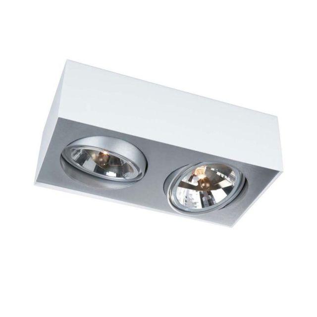 philips spot plafonnier led lirio 5700231 li blanc pas cher achat vente spots. Black Bedroom Furniture Sets. Home Design Ideas