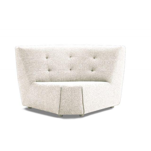 Meubletmoi Angle blanc module pour canapé - Origami