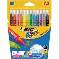 Bic Kids - 002727 - feutre coloriage pointe moyenne - etui de 12