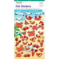 Fiesta - Crafts - K-1018 - Autocollants En Feutre - Crabes