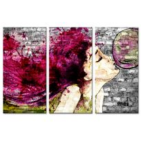 Declina - Tableau triptyque sur toile art de la rue - Tableau contemporain