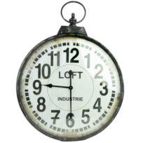 ANTIC LINE CREATIONS - Horloge industrielle Loft