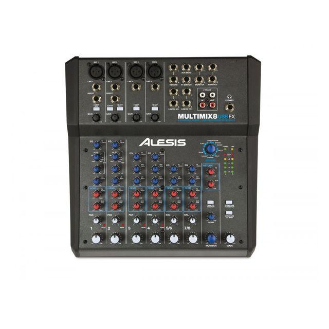 Alesis MultiMix 8 Usb Fx - Console de mixage 6 pistes avec effets Console de mixage 6 pistes avec effets - Alesis MultiMix 8 Usb Fx