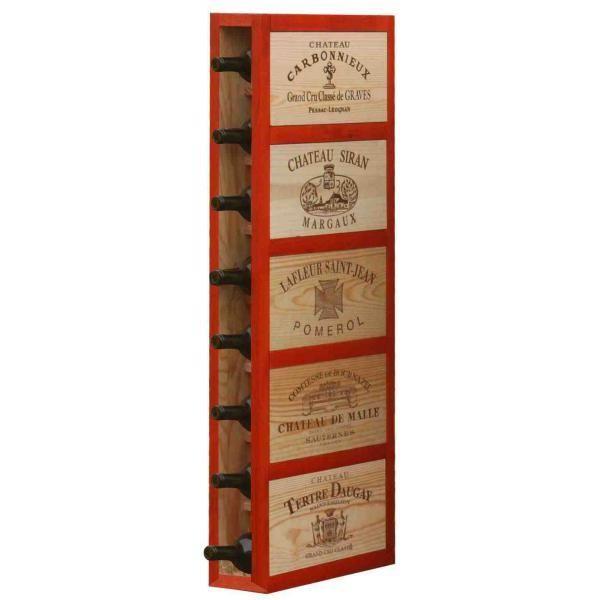 CavidÉCO Pierre Goujon Meuble de rangement en bois 8 bouteilles - Orange - CavidÉCO Pierre Goujon - Aci-cvc100O
