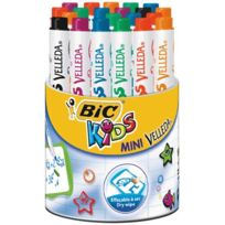 Bic Kids - mini feutre velleda kids 6 couleurs assorties - pot de 24