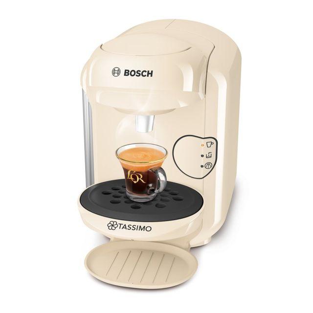 Bosch Cafetière à capsules Tassimo Vivy 2 - TAS1407 Cafetière à capsules Tassimo:- Capacité du réservoir d'eau 0,7 L- Type de boisson Café, Cappuccino, Expresso, Thé