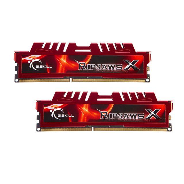 G.SKILL Memoire kit de 2 barrettes Ripjaws X DDR3 PC3-17000 - 2 x 8 Go 16Go, 2133 mhz - cas 11 Memoire kit de 2 barrettes G-Skill Ripjaws X DDR3 PC3-17000 - 2 x 8 Go (16Go) 2133 mhz - cas 11 - Compatible uniquement avec les cartes-mères supportant la DDR3