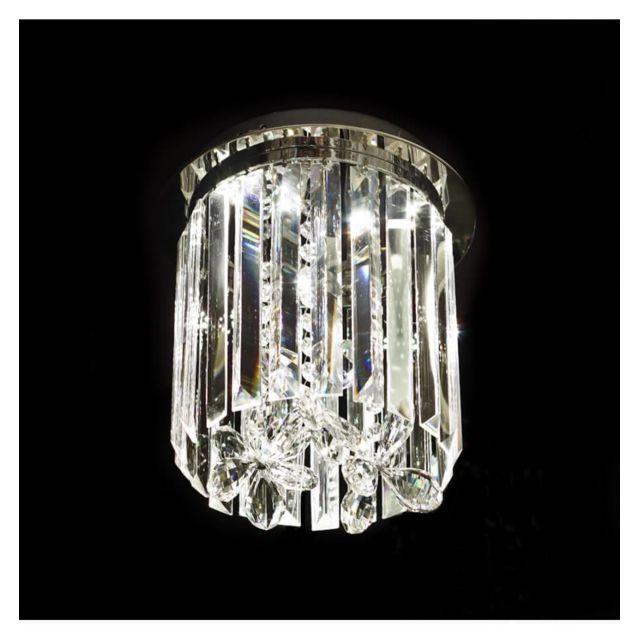 kosilum lustre plafonnier design cristal led 25cm irene 25cm x 25cm x 30cm pas cher achat. Black Bedroom Furniture Sets. Home Design Ideas