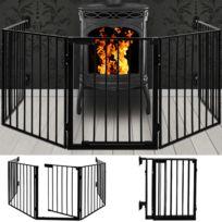 Rocambolesk - Superbe Écrans de cheminée et la protection des animaux grille - longueur totale de 310 cm Neuf