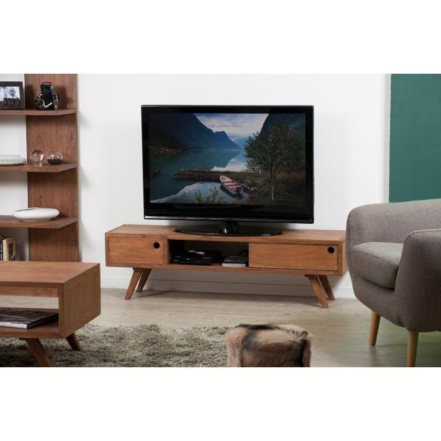 bas prix c2536 83d5d Banc TV avec porte coulissante