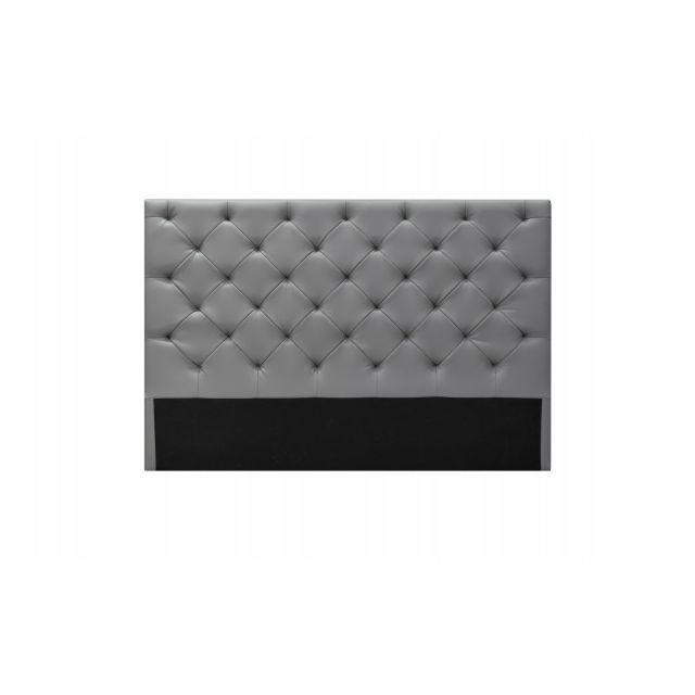 Conforeva Tête de lit Artémis sans strass 110cm - 140x110cm |gris | Design & contemporain |facile d'entretien