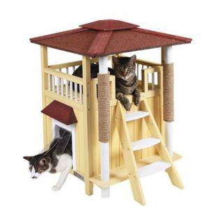kerbl maison ext rieure pour chat toskana bois pas cher achat vente coussin pour chat. Black Bedroom Furniture Sets. Home Design Ideas
