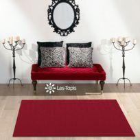 DEZENCO - Tapis PLATIN PLEIN rouge Tapis Moderne 80 x 150 cm rouge 80 x 150 cm