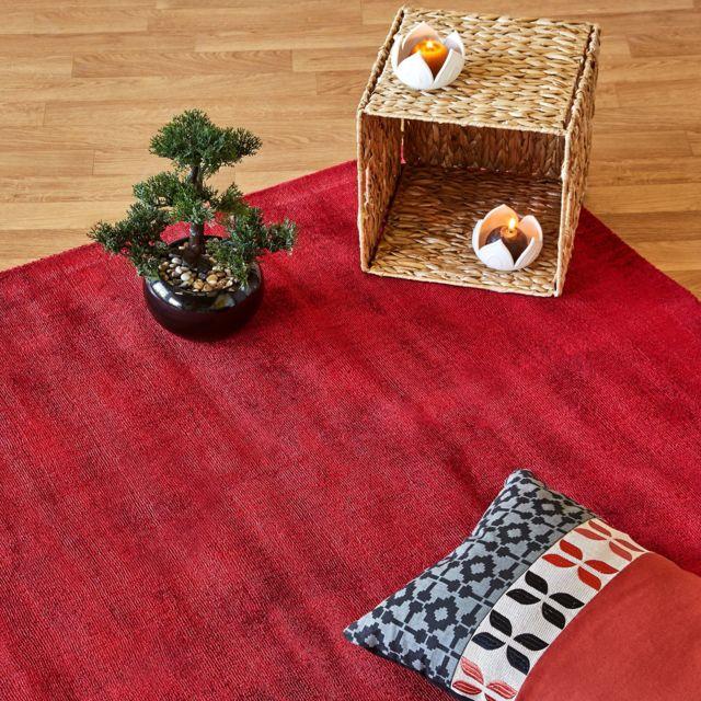 alin a tansen tapis en viscose rouge 120x170cm pas cher achat vente tapis rueducommerce. Black Bedroom Furniture Sets. Home Design Ideas