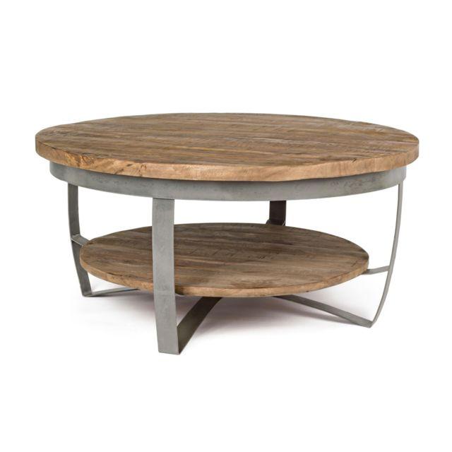 HELLIN Table basse en bois et métal - COSTALE